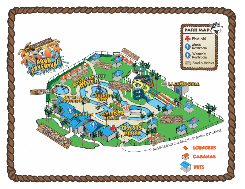 Map of Aqua Adventure